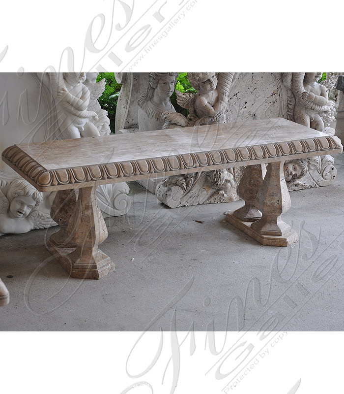 Travertine Marble Bench