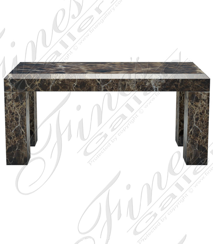Marble Benches  - Emperador Brown Marble Bench - MBE-679