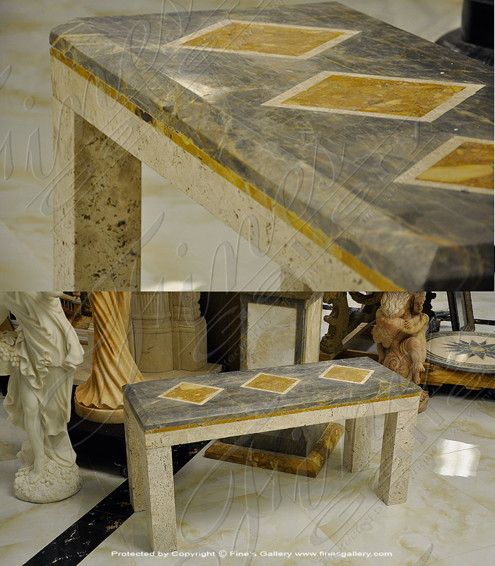 Marble Benches  - Contemporary Marble Bench - MBE-680