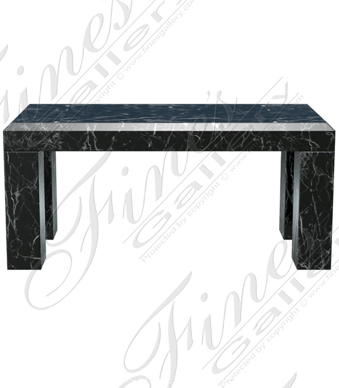 Marble Benches  - Nero Marquina Marble Bench - MBE-681
