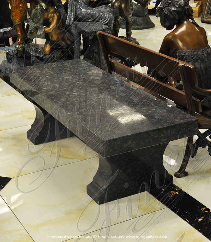 Marble Benches  - Black Pearl Granite Bench - MBE-693