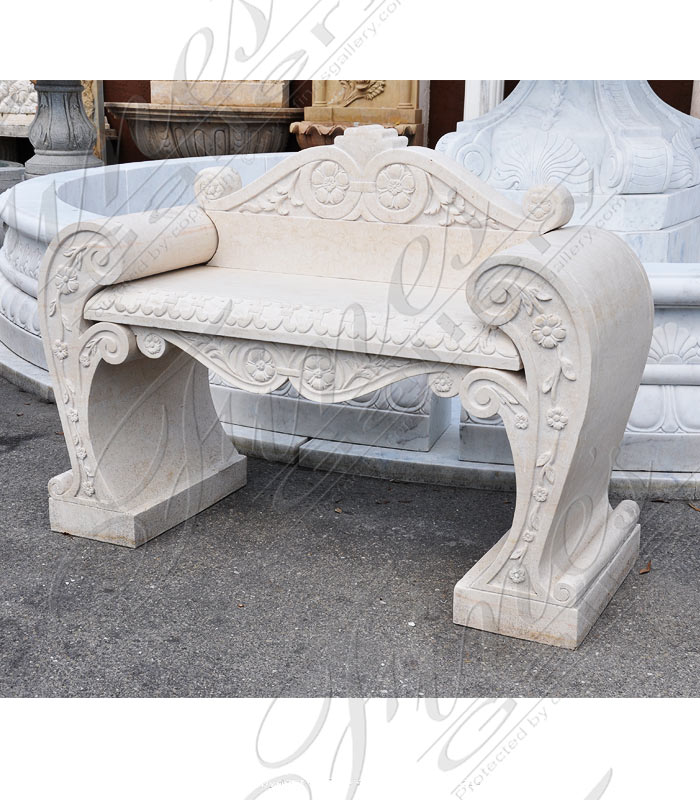 Marble Benches  - Cream Marble Bench - MBE-696