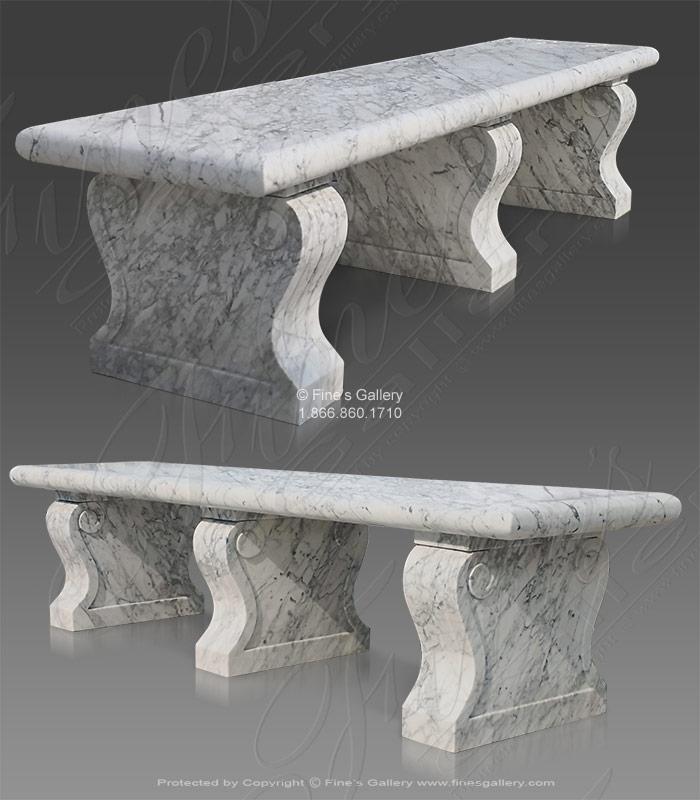 Extra Carrara Marble Bench