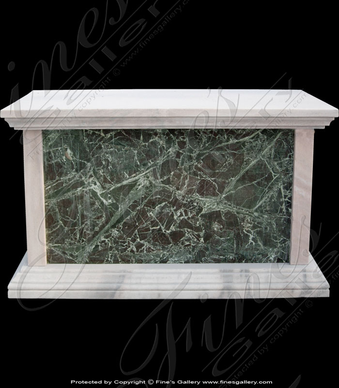 Marble Bases  - White/Green Marble Base II - MBS-001