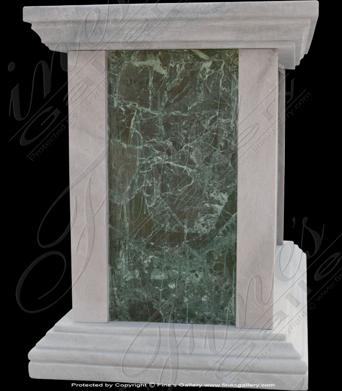 Marble Bases  - White/Green Marble Base - MBS-002