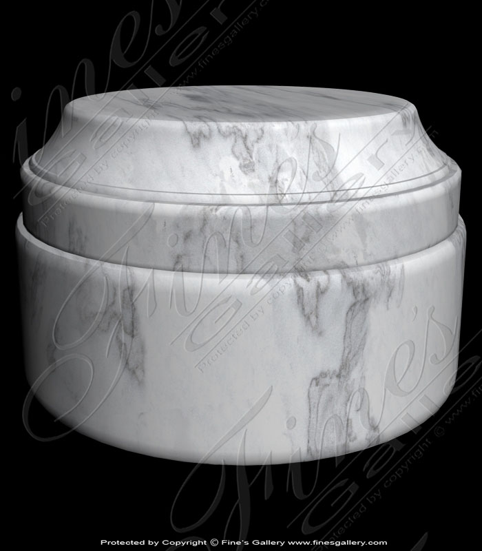 Marble Bases  - White Marble Base - MBS-017