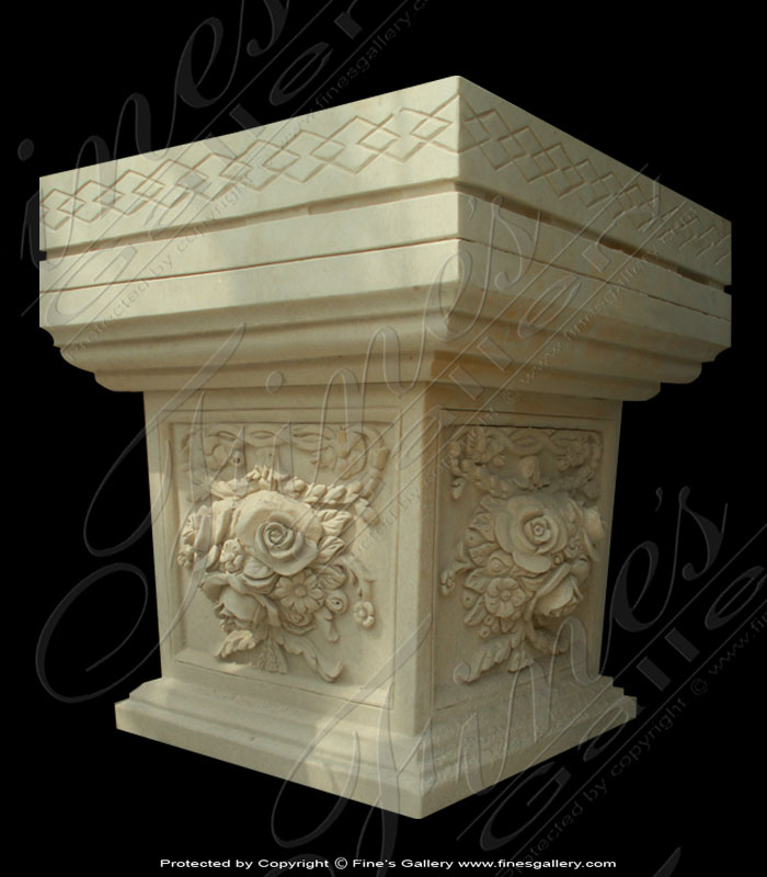 Marble Bases  - Rose Marble Base - MBS-020