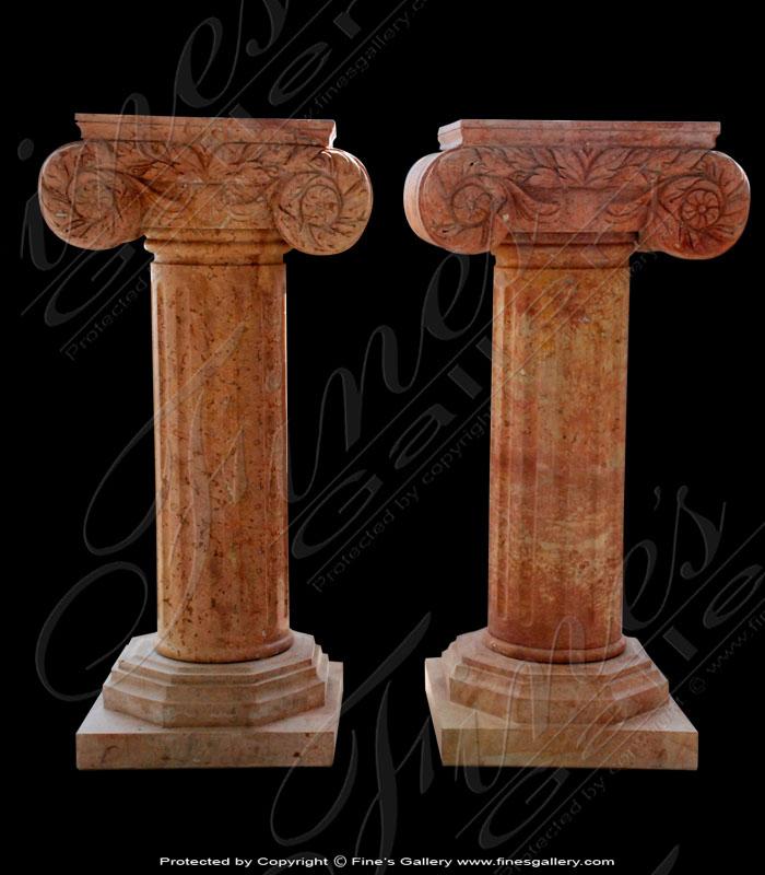 Beige Square Fluted Pedestal
