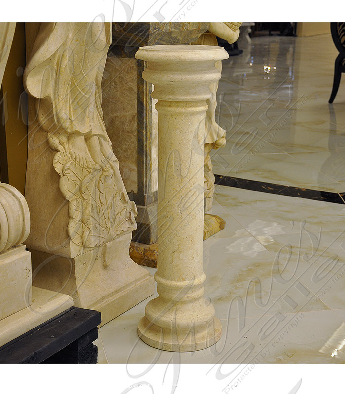 Marble Bases  - Round Pillar Marble Base - MBS-145