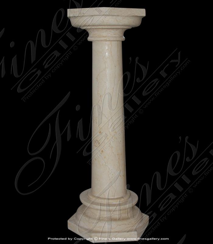 Marble Bases  - Elegant Column Marble Base - MBS-146