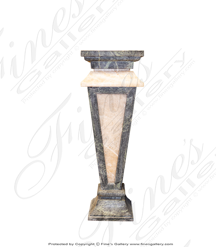 Marble Bases  - Green And Beige Marble Base - MBS-152