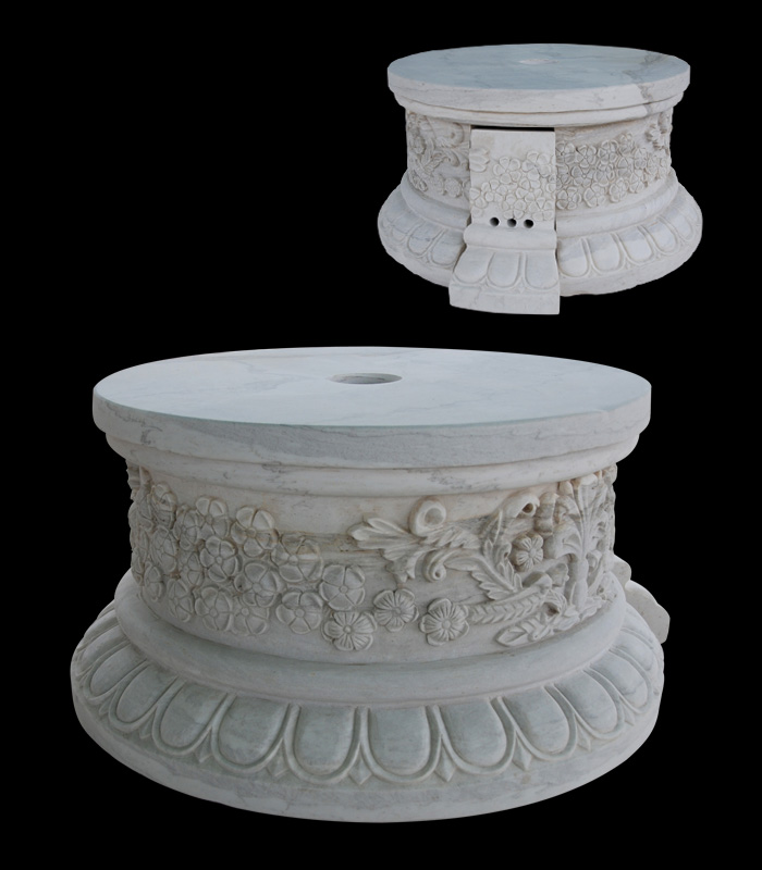 Marble Bases  - White Marble Floral Base - MBS-159