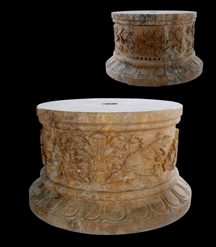 Marble Bases  - Ornate Marble Base - MBS-160