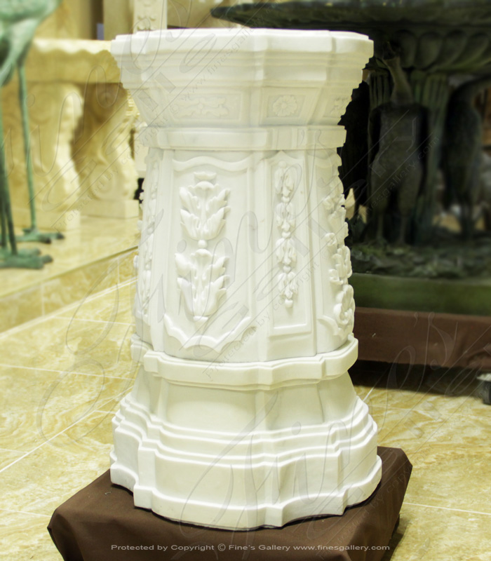 Marble Bases  - Floral Decor Marble Base - MBS-161