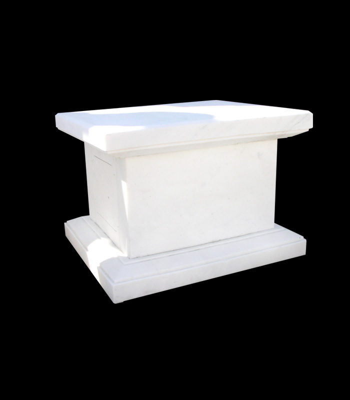 Marble Bases  - Square White Marble Base - MBS-169