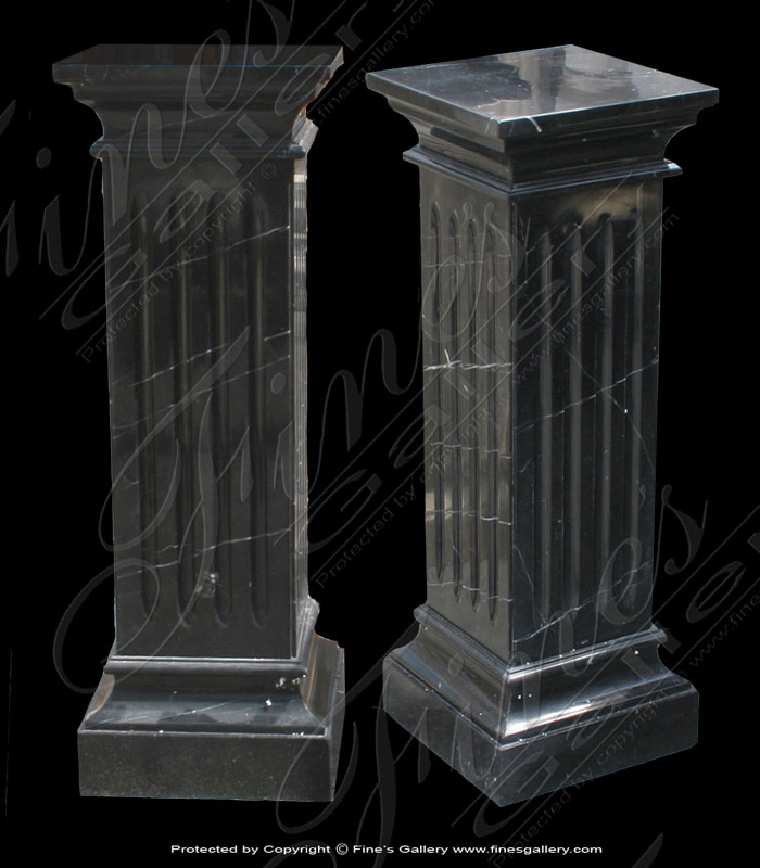 Black Marble Base Fluted