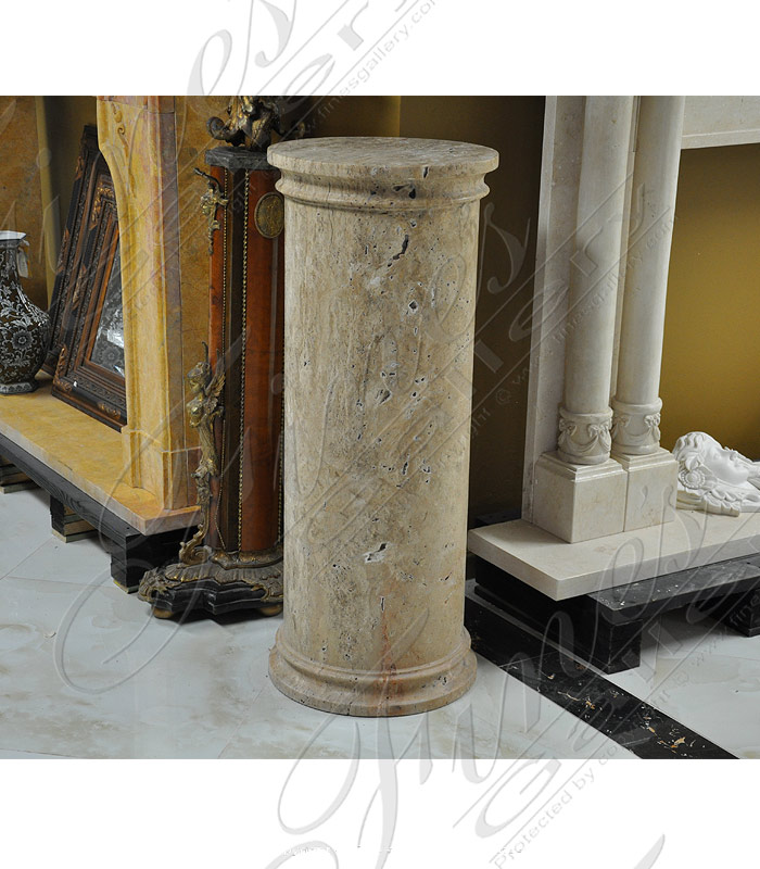 Marble Bases  - Antique Calcium Marble Base - MBS-184