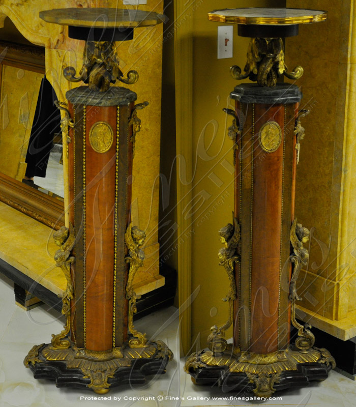 Marble Bases  - Antique Style Base Pair - MBS-199