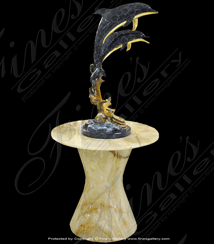 Marble Bases  - Contemporary Onyx Pedestal - MBS-209