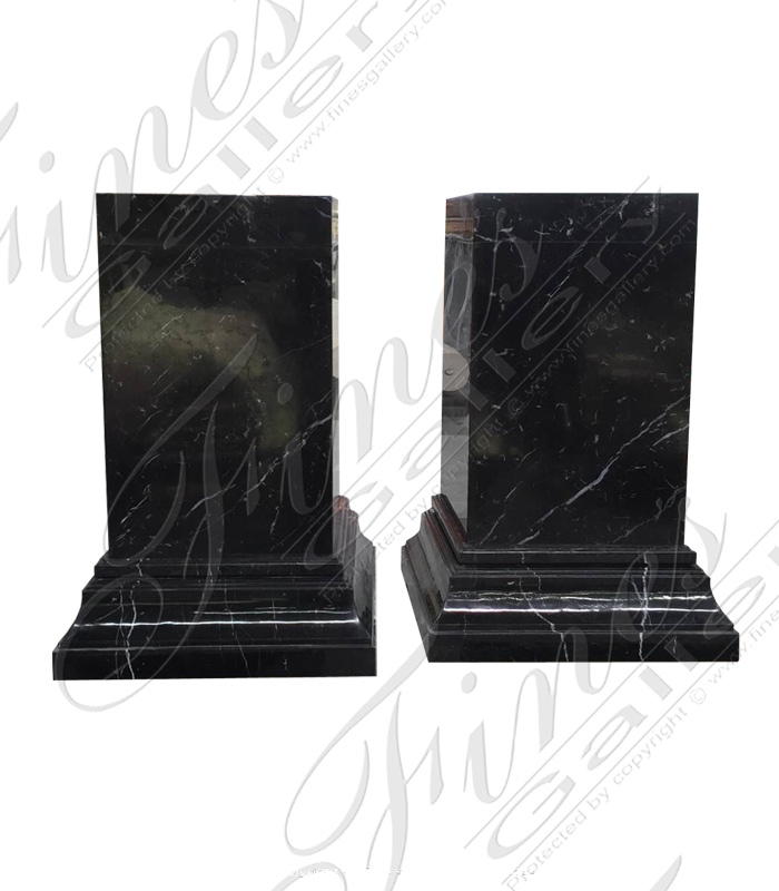 Polished Marquina Marble Bases