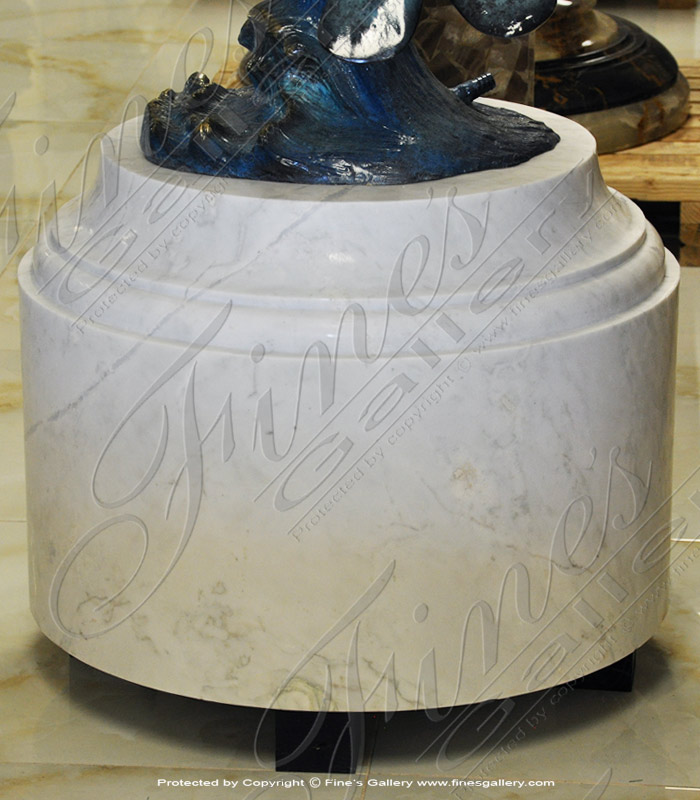 Marble Bases  - White Marble Base - MBS-213