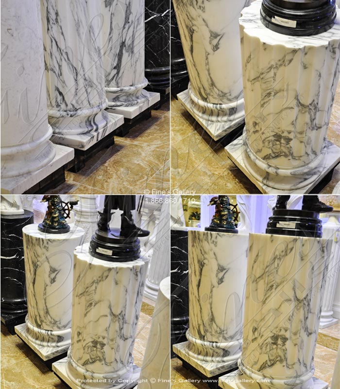Arabascato Marble Column Base