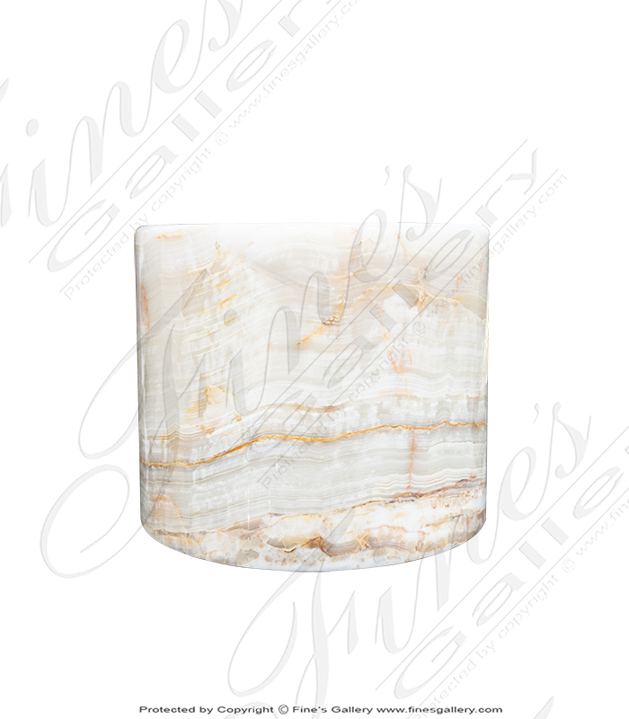 Marble Bases  - Translucent Onyx Pedestal - MBS-240