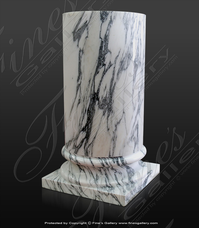 Marble Bases  - Arabascato Marble Column Base - MBS-227