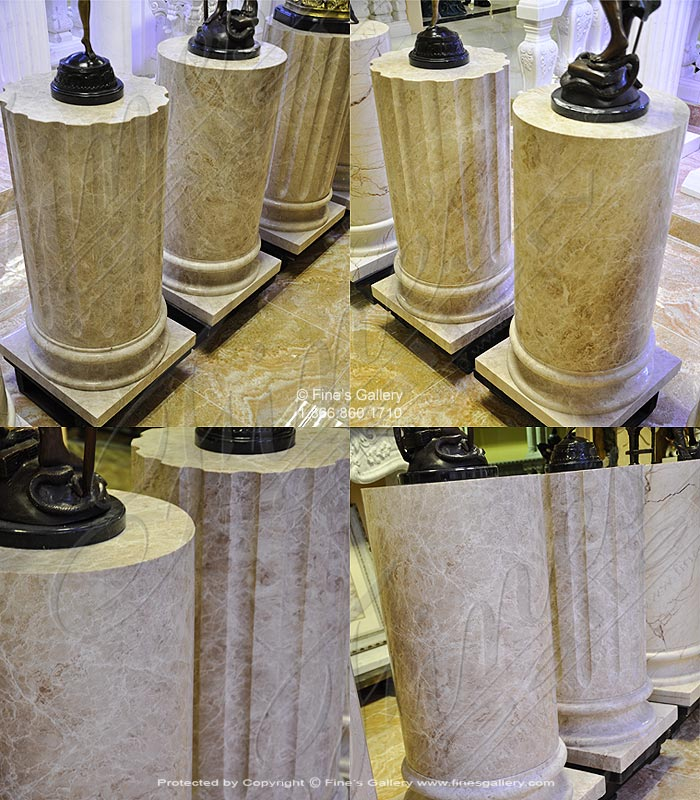 Marble Bases  - Cappucino Marble Base - MBS-244