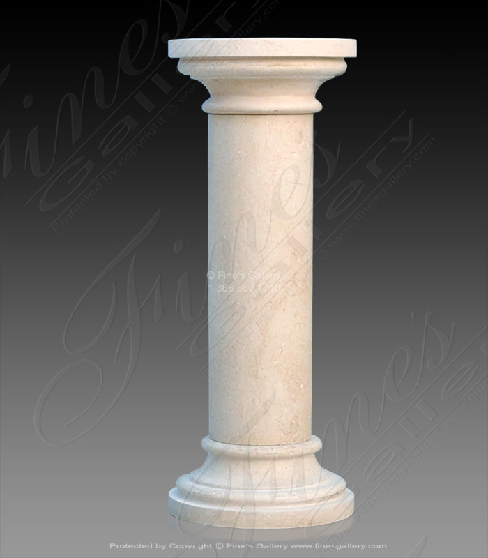 Marble Bases  - Traditional Light Cream Marble - MBS-254