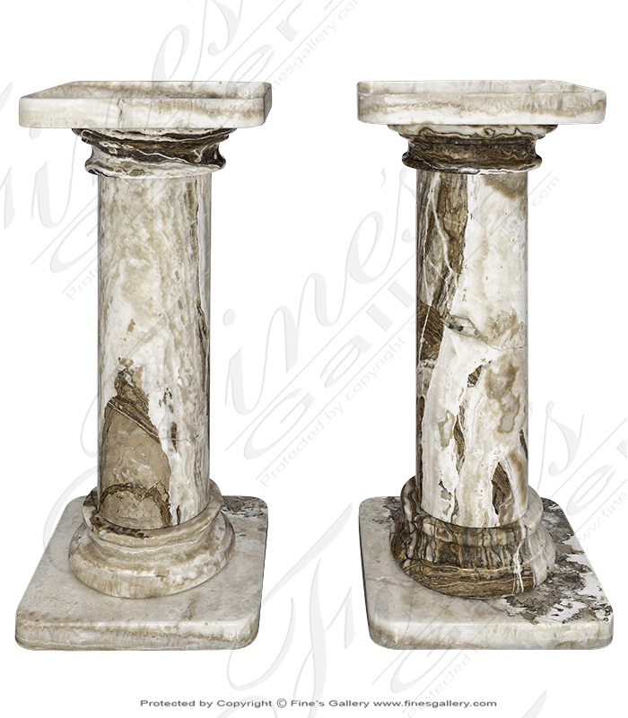 Marble Bases  - Tra Onyx Pedestals - MBS-260