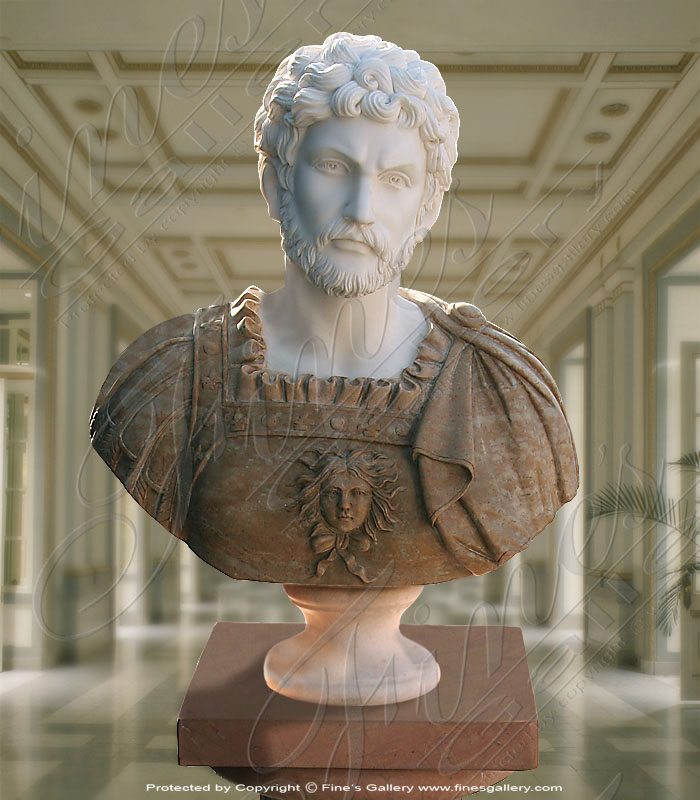 Marble Statues  - Male Marble Bust - MBT-131