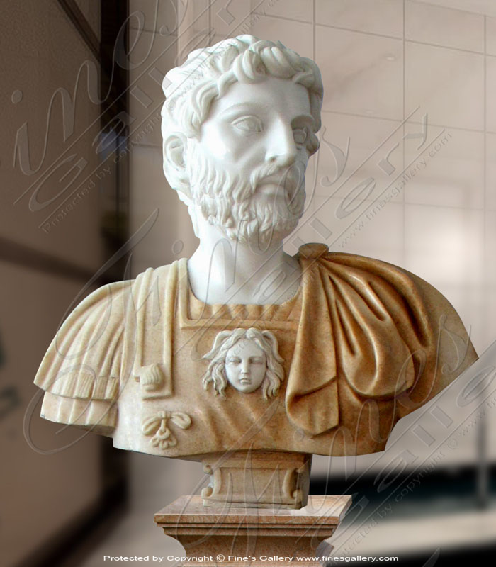 Marble Statues  - Greek Male Bust - MBT-348