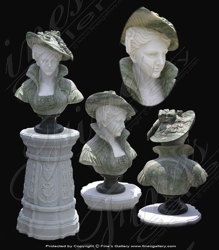 Marble Statues  - Victorian Lady In Green - MBT-359