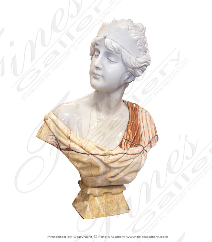 Marble Statues  - Marble Diana Bust - MBT-438
