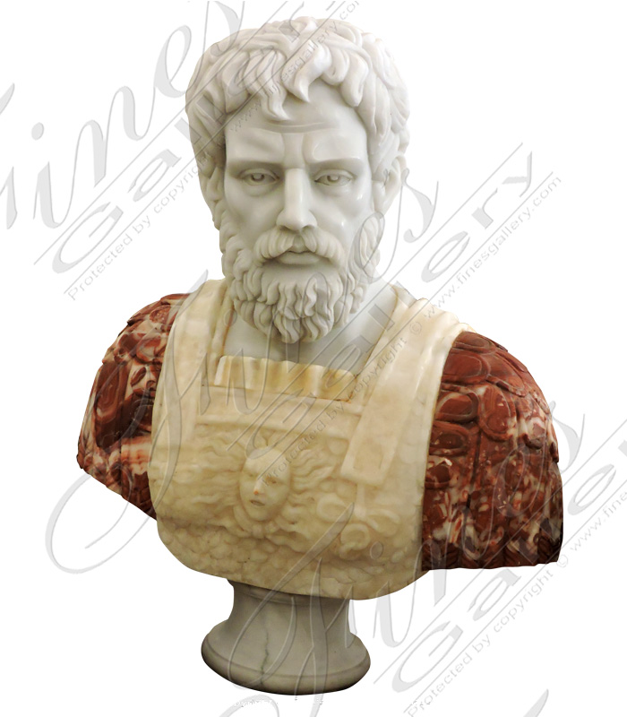Marble Statues  - Roman Marble Bust - MBT-449