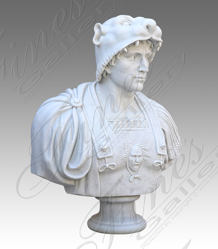 Marble Statues  - Alexander The Great Bust - MBT-454