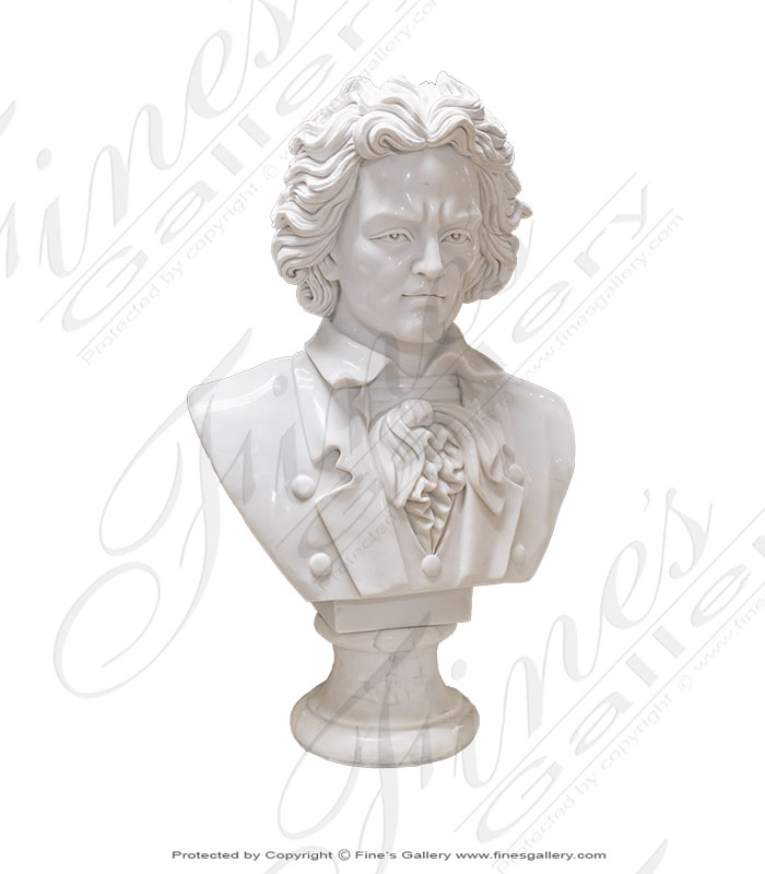 White Marble Bust of Beethoven