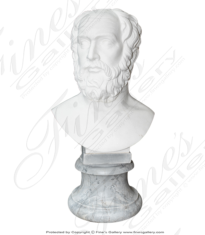 Bust of Plato in Statuary White Marble
