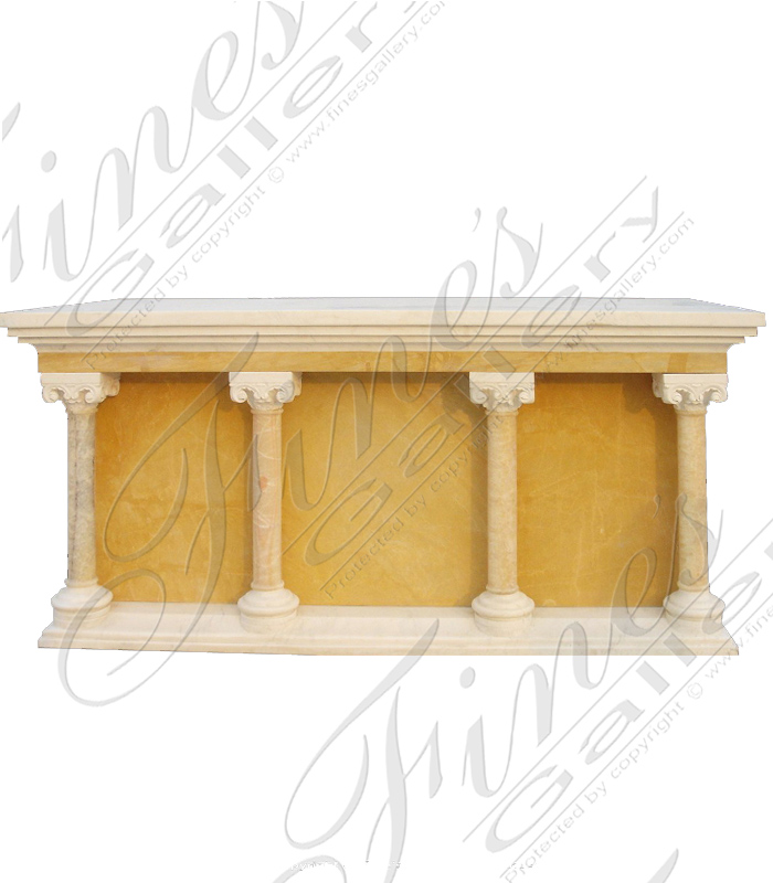 Yellow Cream Marble Church Altar