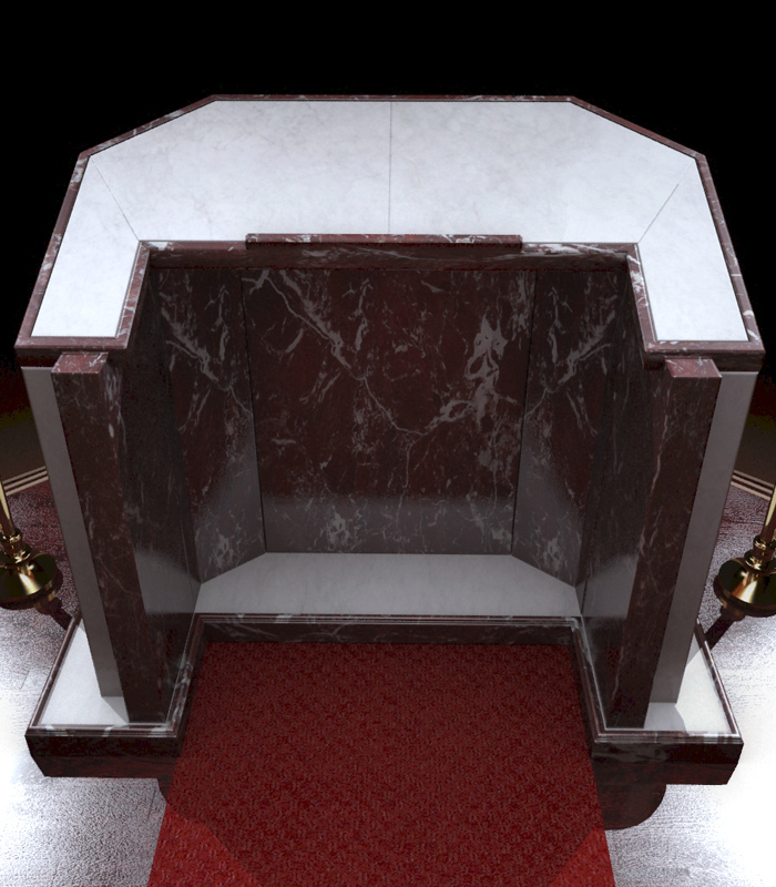 Marble Church Products  - Marble Church Podium - MCH-011