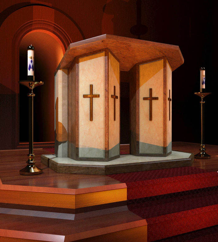 Marble Church Podium
