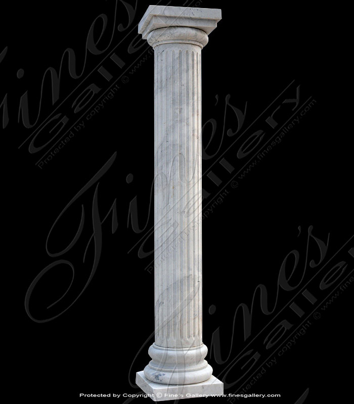 Fluted White Marble Column