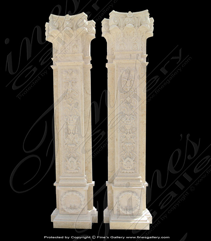 Marble Columns  - White Carrara Marble Columns - MCOL-178