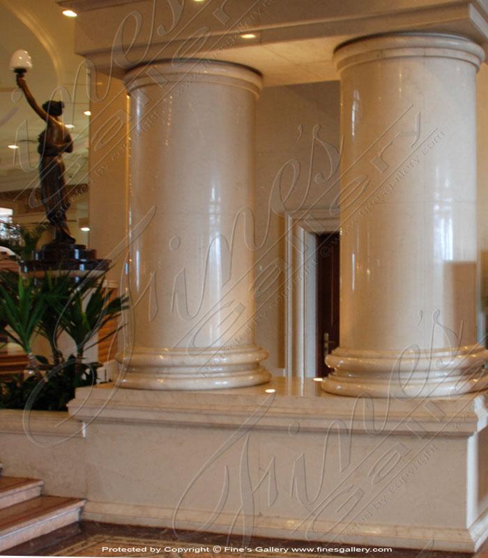 Simple Elegance Marble Pillar
