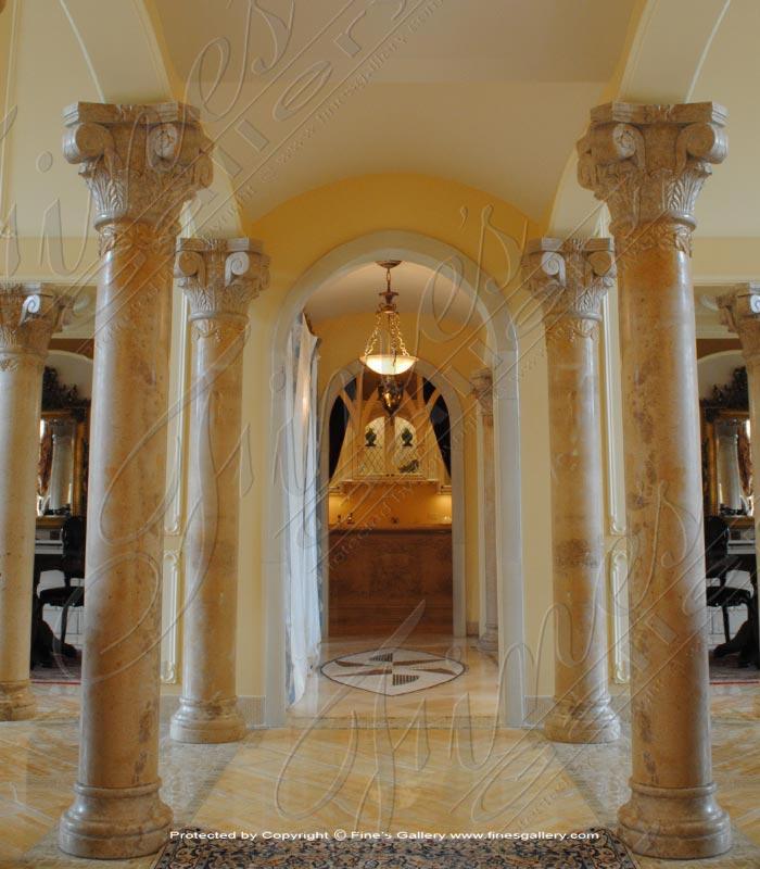 Ornate Majesty Marble Column