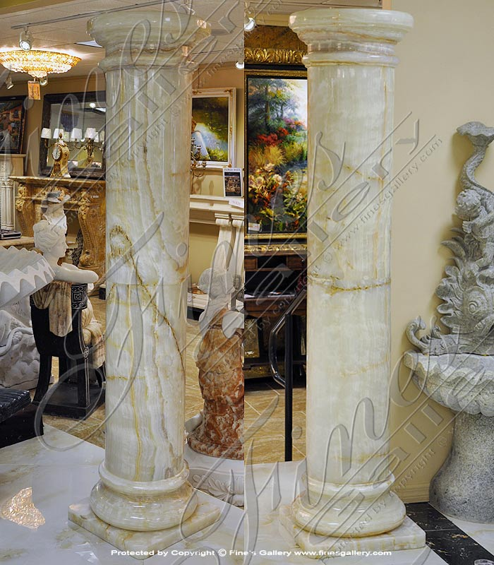 Marble Columns  - Polished Black Marble Column - MCOL-323