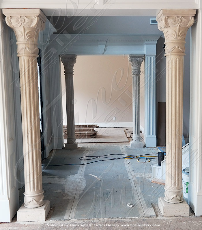 Marble Fireplaces  - Ornate Marble Overmantel - MFP-1194