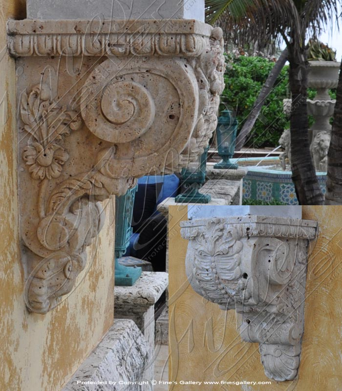 Marble Corbels  - Travertine Corbel - MCOR-001