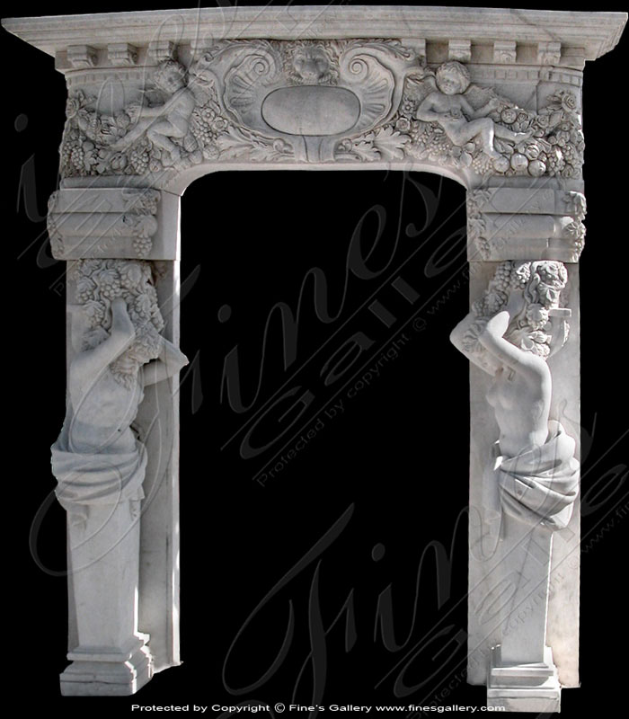Mythical Feast Marble Doorway